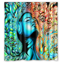 Psychedelic #25 Shower Curtain Waterproof Made From Polyester - $31.26+