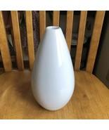 Hipcon White Glaze Pottery Teardrop Vase - $19.80