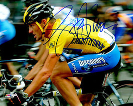 LANCE ARMSTRONG Signed Tour de France Cycling Action 8x10 Photo - SCHWARTZ - $177.21