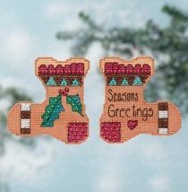 Season's Greetings 2016 Everyday Series stocking cross stitch kit Milll Hill - $7.20