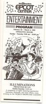 1989 Walt Disney World Epcot Center Entertainment Program guide - $32.73