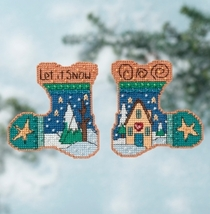 Let It Snow 2016 Everyday Series stocking cross... - $7.20
