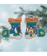 Let It Snow 2016 Everyday Series stocking cross... - $7.20