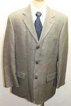 Oscar de la Renta Men Blazer 44R Gray Black 3 Buttons Made In Canada Woo... - $34.57