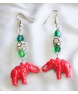 Judy Strobel Festive Christmas Elephant Earrings - $19.95