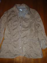 Anthropologie Odille Khaki Army Green Button Down Blouse Size 6  3/4 SLeeves - $27.80