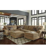 CANYON - Large Modern Brown Chenille Living Roo... - $2,239.85