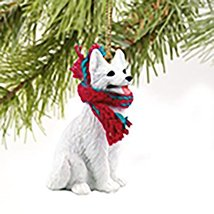 Conversation Concepts German Shepherd White Original Ornament - $13.24