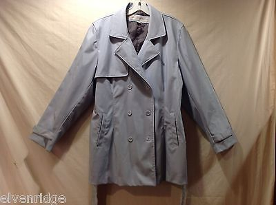 Womens Element Protector baby blue Double Breasted Rain Coat, Size Large