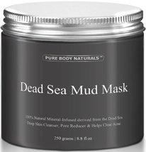 Pure Body Naturals Beauty Dead Sea Mud Mask for Facial Treatment, 250g / 8.8 fl. - $24.95