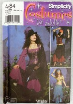 SIMPLICITY COSTUMES Uncut STEAMPUNK Gypsy BELLY DANCER 4484 Size HH 6 8 ... - $14.55