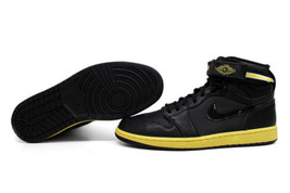 Nike Air Jordan I 1 High Strap Black/Black-Voltage Yellow 342132-001 SZ ... - $117.78