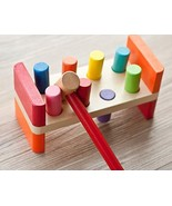 Joyshare Pounding Bench Wooden Toy with Mallet hammering Block Punch and... - $18.45
