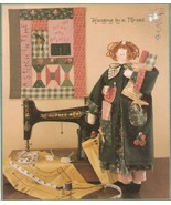 """Hanging By A Thread 23"""" Sewing Doll & Clothes 14"""" x 16"""" Quilt Quilting P... - $12.99"""