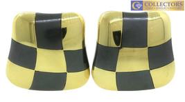 Ladies 1984 Angela Cummings Onyx Inlay Checkerboard 18K 750 Yellow Gold ... - $2,799.72