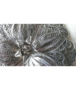 Sterling Silver Pin made in Mexico Vintage Filigree Broach - $31.98