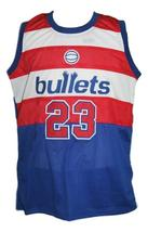 Michael Jordan #23 Baltimore Washigton Retro Basketball Jersey New Blue Any Size image 4
