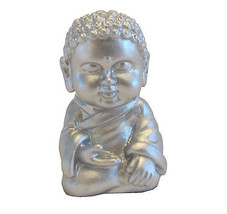 Pocket Buddha Silver Serenity Buddhism Mini Figure Figurine Toy - $4.99