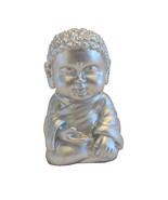 Pocket Buddha Silver Serenity Buddhism Mini Figure Figurine Toy - $4.99