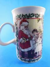Dunoon Stoneware Coffee tea cocoa  Mug Cup Santa's Workshop Christmas Sc... - $7.61