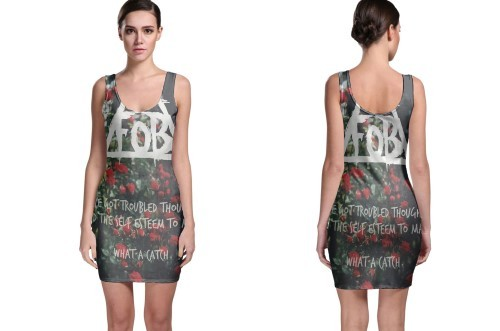 Fob logo  1  bodycon dress