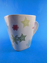 STARBUCKS Christmas  Holiday Cup Mug Colored Snowflakes & Stars 2005  NICE! - $6.23