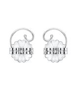 Levears 14K White Gold Pierced Ear Lobe Earrings Backs Lift Support Post / Stud - $175.00