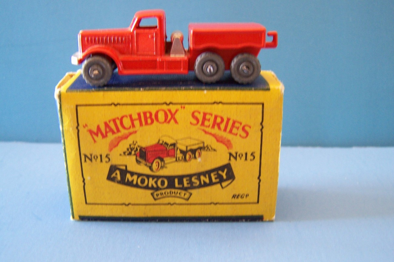 1956 MATCHBOX SERIES NO. 15 A MOKO LESNEY PRIME MOVER 1-75 SERIES HO SCALE MIB