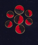 Free Ship Red and Black Buttons Unknown Brand o... - $6.99
