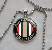 Iraq War Veteran Choose Your Service Branch Pendant Necklace - $15.00+