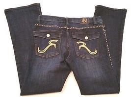 Rock & Republic Kasandra Blue Jeans  Distressed Denim Womens Size 12 Boo... - $43.51
