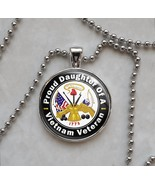 Vietnam Veteran Proud Choose a Family Member Pendant Necklace - $15.00+