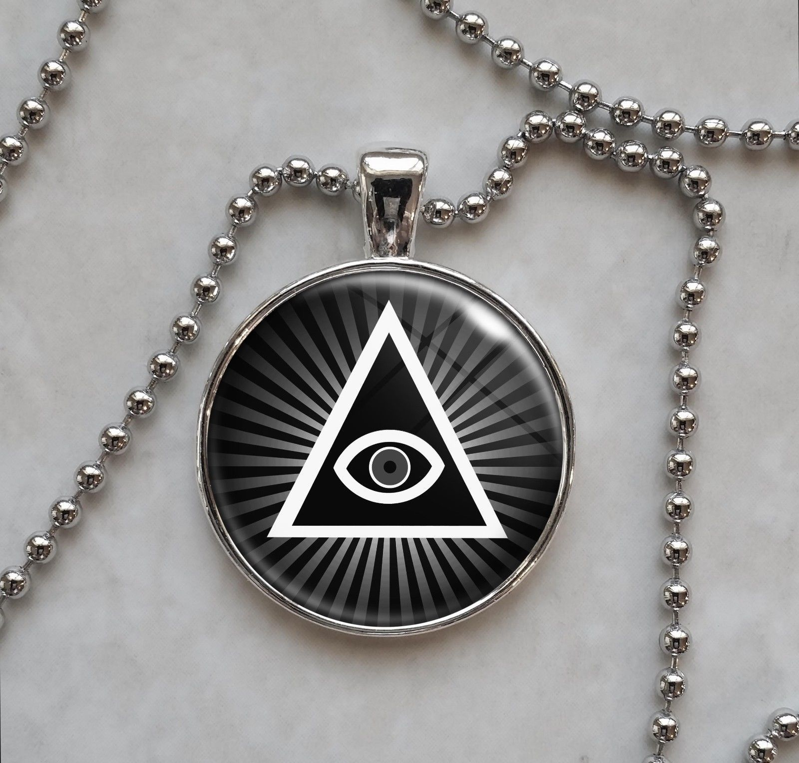 Primary image for Illuminati All Seeing Eye Pyramid Pendant Necklace