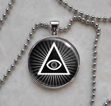 Illuminati All Seeing Eye Pyramid Pendant Necklace - $14.85+