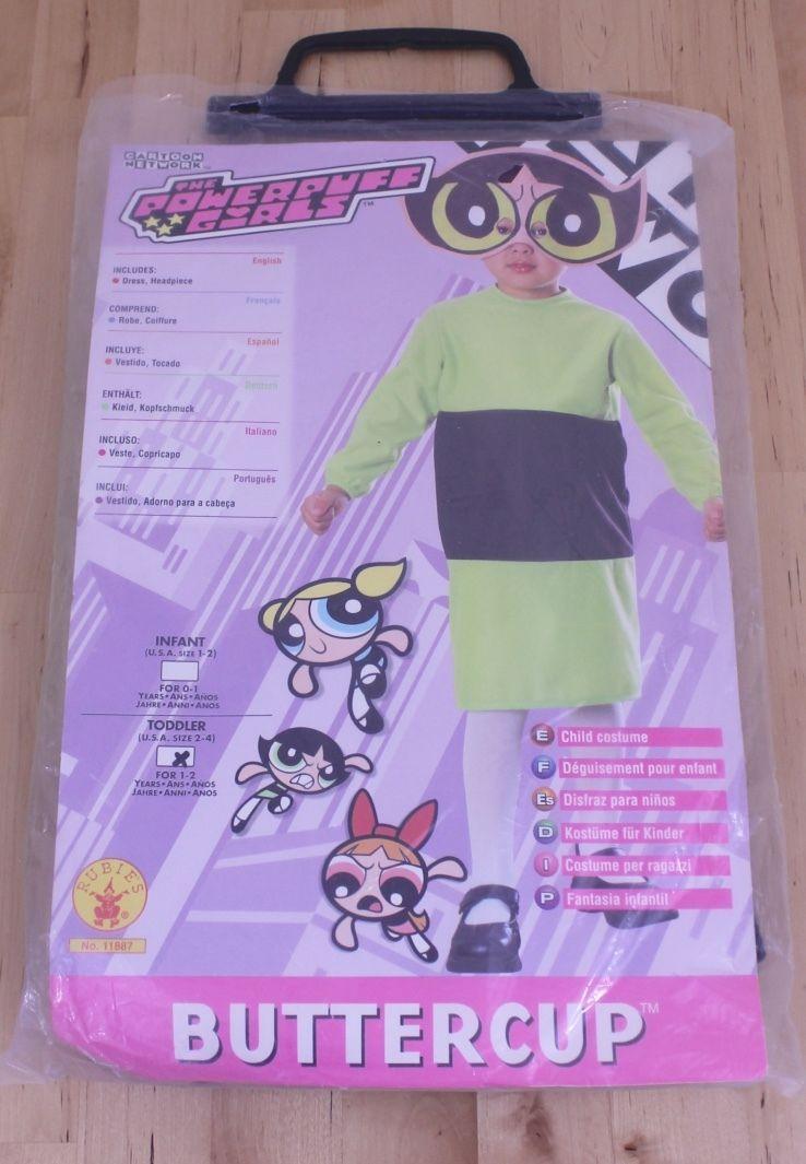 ad62386ba4ad 57. 57. Previous. 2000 Cartoon Network Powerpuff Girls Toddler Buttercup  Child Halloween Costume