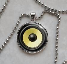 Audio Stereo Speaker Subwoofer sub woofer loudspeaker Pendant Necklace - $14.00+