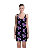 Cute Floral Flower Pattern Tight Fitted Bodycon Dresses - Size & Sleeve ... - $26.18+