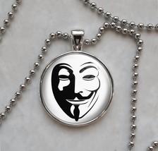 Guy Fawkes Anonymous Pendant Necklace - $14.85+