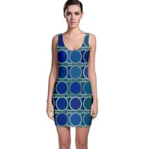 Cute Geometric Circle Tight Fitted Bodycon Dresses - Size & Sleeve Options - $26.18+