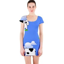Sexy Cloud Cows Tight Fitted Bodycon Dresses - Size & Sleeve Options - $29.09+