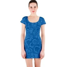 Sexy Circle Blue Bubbles Fitted Bodycon Dresses - Size & Sleeve Options - $29.09+