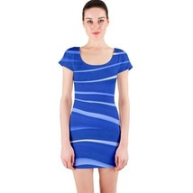 Sexy Blue Waves Fitted Bodycon Dresses - Size & Sleeve Options - $29.09+