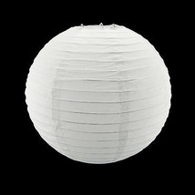 "8"" White Circle Round Paper Lantern Lamp Shade Party Home Hanging Decor ... - $3.99+"