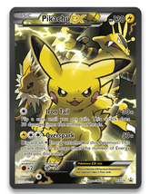 Pikachu Ex Full Art Xy124 Black Star Promo Red And Blue - $14.95