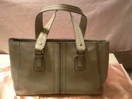 Kenneth Cole New York Light Grey Leather Tote Bag - $29.99