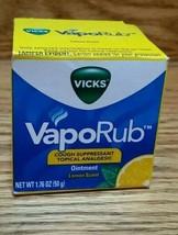 Vicks VapoRub lemon scent Topical Cough Suppressant Ointment 1 pk 1.76oz - $9.95