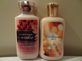 LOT OF 2  BATH & BODY WORKS  A THOUSAND WISHES & CASHMERE GLOW NEW LOTIO... - $23.99