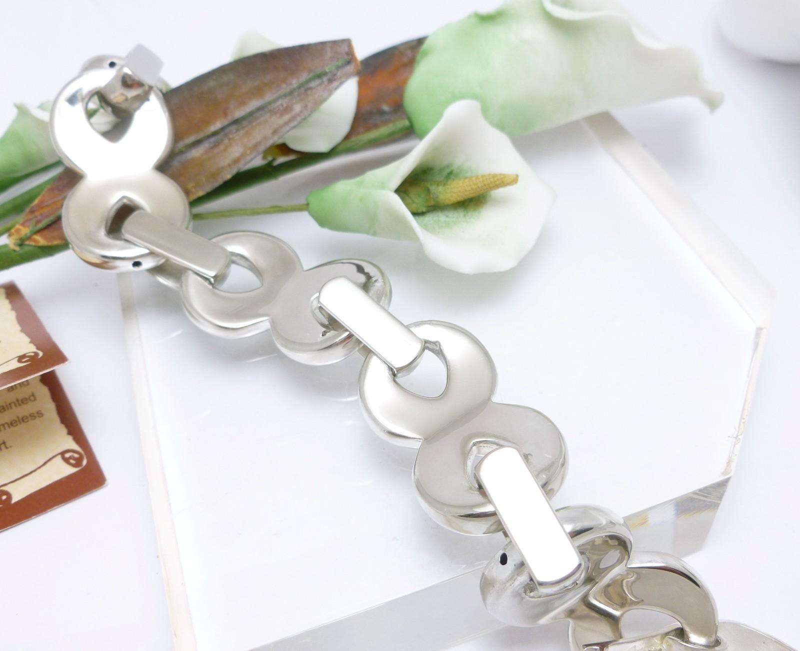 "Sterling Silver Infinity Symbol 7-1/2"" Electroform Bracelet"