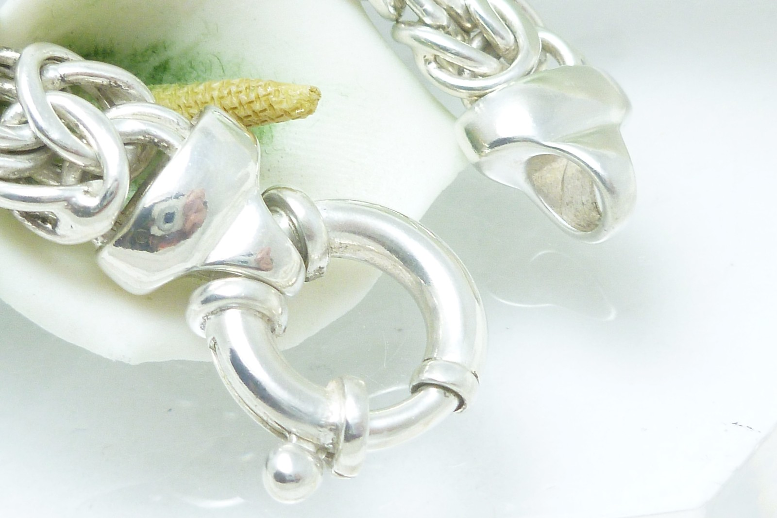 """Sterling Silver 7.25"""" Byzantine Bracelet"""