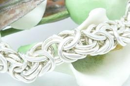 """Sterling Silver 7.25"""" Byzantine Bracelet - $125.00"""